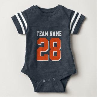 Romper för baby för sportar för fotboll för t-shirt