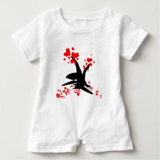Romper för trädhjärtababy t shirt