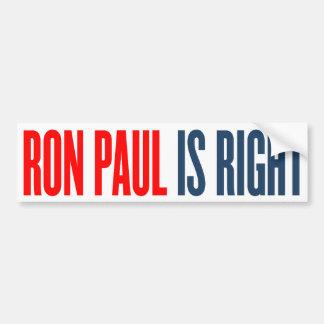 Ron Paul är den högra bildekalet Bildekal