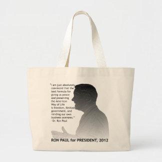 Ron Paul för presidenten av USA, 2012 Jumbo Tygkasse
