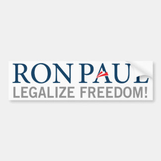 Ron Paul legaliseraa frihetsbildekal Bildekal