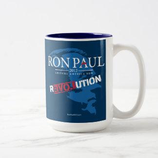 Ron Paul revolution 2012 Två-Tonad Mugg