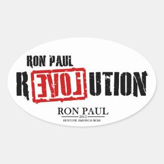 Ron Paul revolution - återställande Amerika nu Ovalt Klistermärke