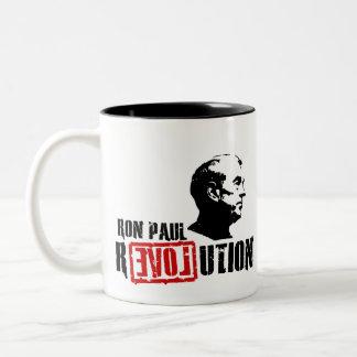 Ron Paul revolution - hopp för den Amerika muggen Två-Tonad Mugg