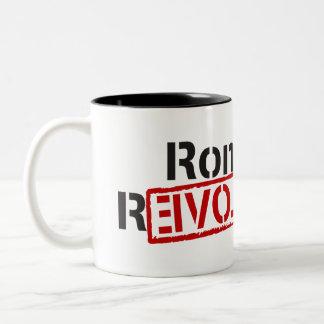 Ron Paul revolution Två-Tonad Mugg
