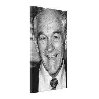 Ron Paul svart & vitporträtt Canvastryck
