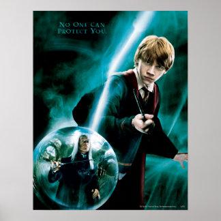 Ron Weasley och Lucius Malfoy Poster