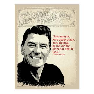 Ronald Reagan citationstecken Vykort