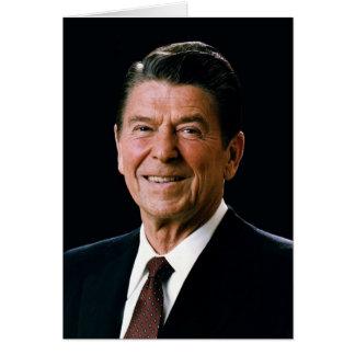 Ronald Reagan porträtt 1981 Hälsningskort