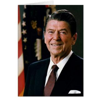 Ronald Reagan porträtt Hälsningskort