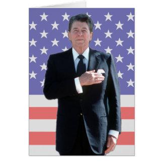 Ronald Reagan stjärnafält Hälsningskort