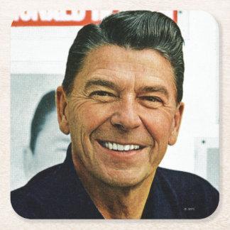 Ronald Reagan Underlägg Papper Kvadrat
