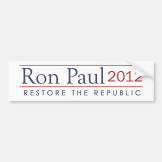 ronpaul_restore_the_republic 2012 bildekal