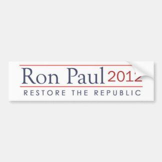 ronpaul_restore_the_republic 2012 bildekal