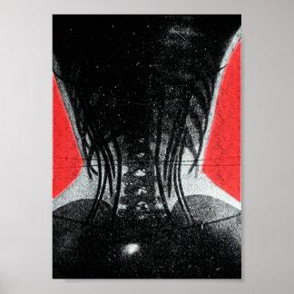 Röntga av kvinna i a-korsettaffisch poster