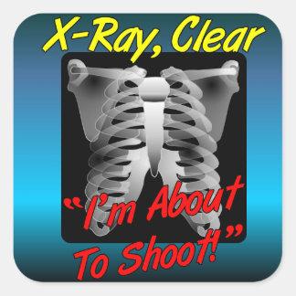 Röntga den klara klistermärken