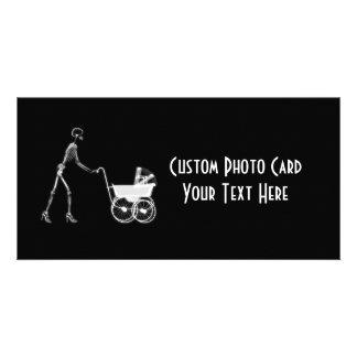 Röntga den skelett- mamman & babyen - original B&W Fotokort