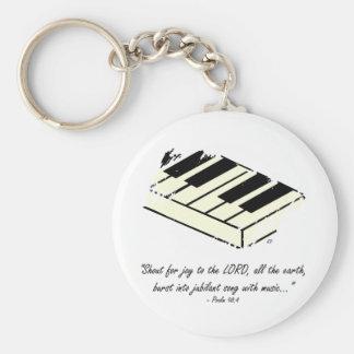 """""""Rop för glädje - piano"""" Keychain Rund Nyckelring"""