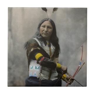 Rop på den Oglala Sioux indier 1899 Liten Kakelplatta