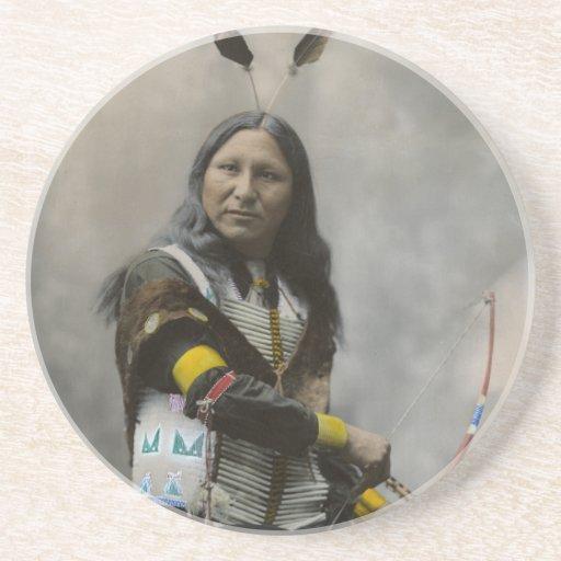 Rop på den Oglala Sioux indier 1899 Underlägg För Glas