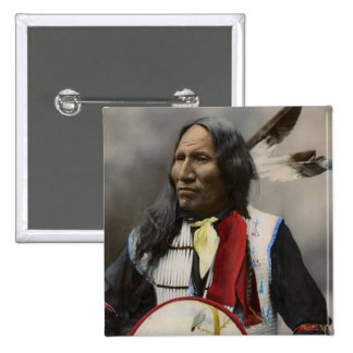 Rop på Oglala Sioux 1899 indiska vintage Standard Kanpp Fyrkantig 5.1 Cm