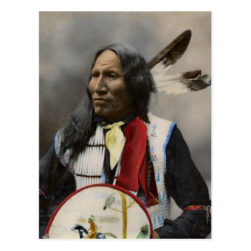 Rop på Oglala Sioux 1899 indiska vintage Vykort