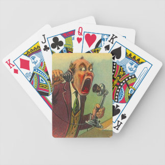 Rop som kallar roliga kort för uttrycksappellpoker spelkort