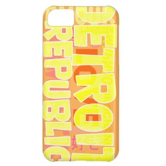 Rop ut Detroit iPhone 5C Fodral