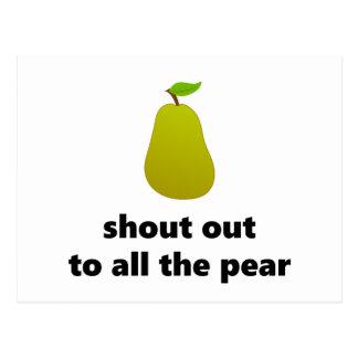 Rop ut till alla pear vykort