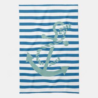 Rope och ankra blått- och vitrandhandduken handhandukar