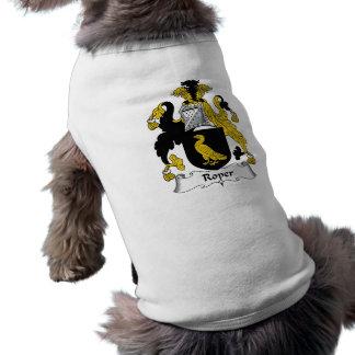 Roper familjvapensköld hund tee shirt