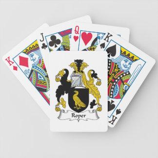 Roper familjvapensköld spel kort