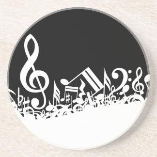Röra av musikaliska symboler underlägg