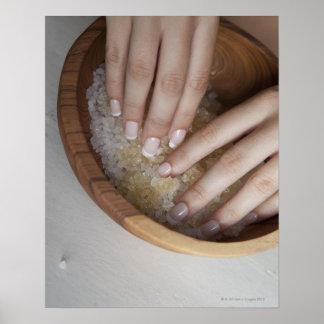 Röra bunke för kvinna av socker poster