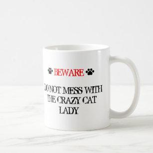Röra inte med den galna kattdamen kaffemugg