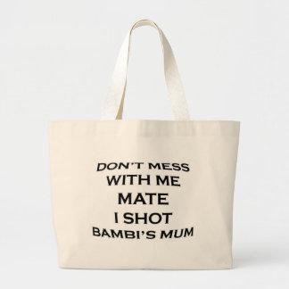 röra inte med mig som är matt mig, sköt bambis mor jumbo tygkasse