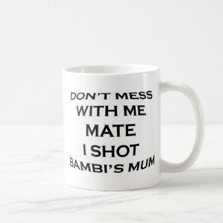 röra inte med mig som är matt mig, sköt bambis vit mugg