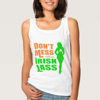 Röra inte med roliga irländska flickor för en linne