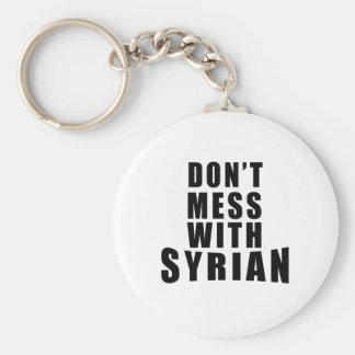 Röra inte med SYRIAN Rund Nyckelring