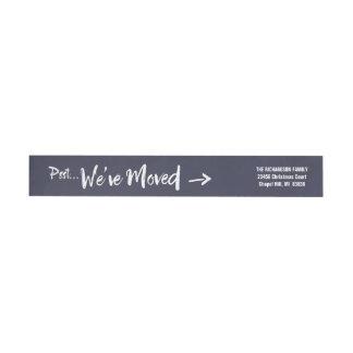 Röra marin för meddelandehelgdagreturadress etikettband