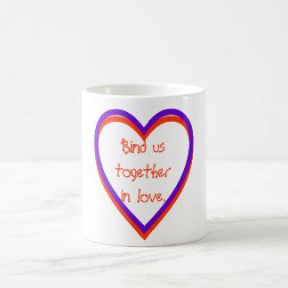 Röra oss tillsammans i love. kaffemugg