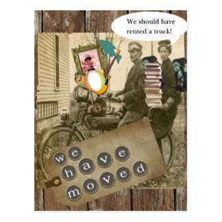 Röra på en cykel vykort