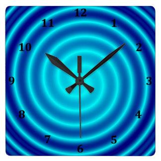 Röra sig i spiral blåttVertigo Fyrkantig Klocka