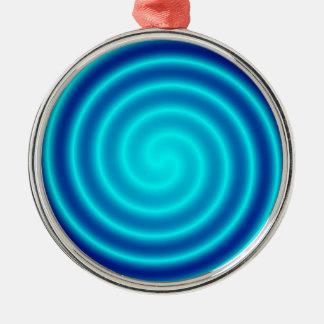 Röra sig i spiral blåttVertigo Julgransprydnad Metall