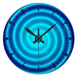 Röra sig i spiral blåttVertigo Stor Rund Klocka