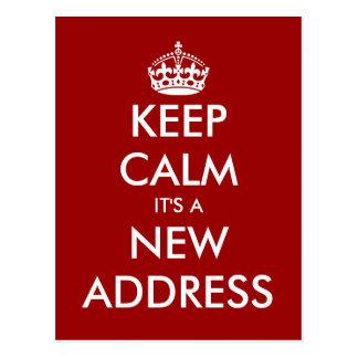 Röra vykort för rolig behållalugn för nytt adress