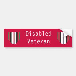 Rörelsehindrad Afghanistan veteranbildekal Bildekal