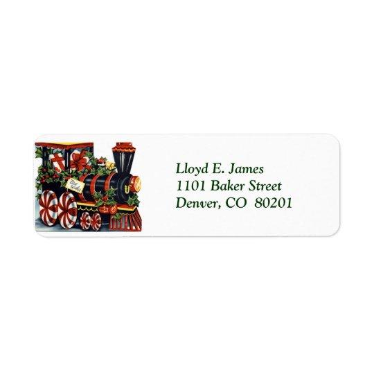 Rörlig returadressetikett för jul returadress etikett