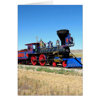 Rörligt foto för ångamotortåg hälsningskort