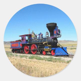 Rörligt foto för ångamotortåg runt klistermärke